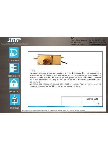 Interverrouillage serrure ELN electrique commande sectionneurs - Plan Technique 1