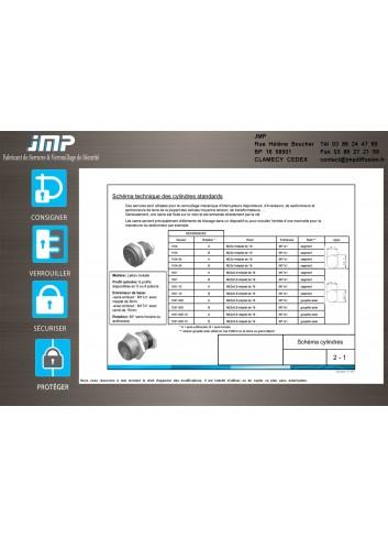 Serrures 1104-1351 pour verrouillage mécanique d'interrupteurs disjoncteurs - Plan Technique 1