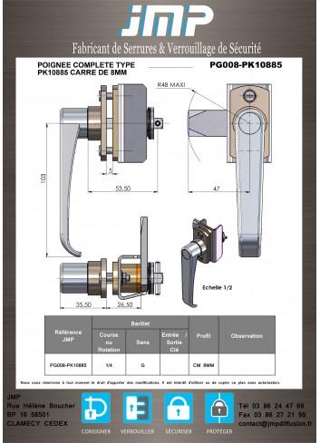 Poignée Alstom PG008-PK10885 - Plan Technique