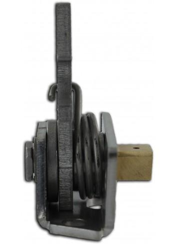 Serrure crochet SERR.CROCHET-002 rappel triangle mâle de 11 lg23,70mm - 3