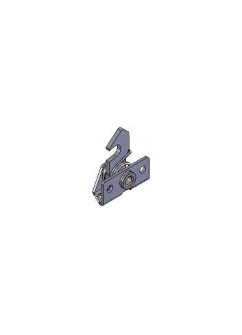 Serrure rappel à crochet TM3,75 triangle mâle de 3,75 lg23,70mm