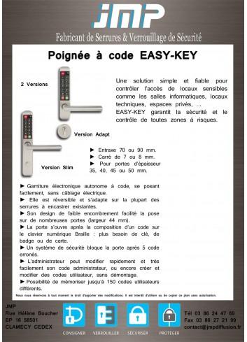 Poignée à code EASY-KEY - Plan Technique 1