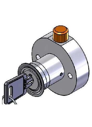 Serrure à pêne escamotable rétractable rond PE997-01