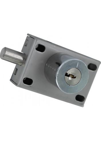 Serrure à verrou à clé non prisonnière EL11BP-02-2S - boitier inox