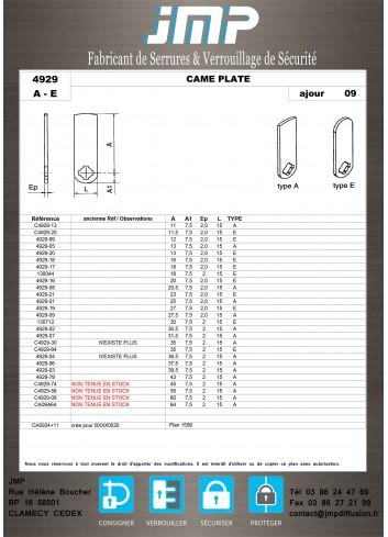 Cames 4929 - Plan Technique 1