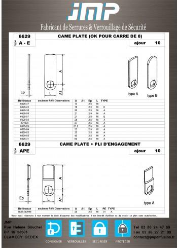 Cames 6629 - Plan Technique 1
