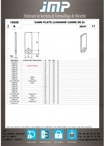 Cames 15929 - Plan Technique 1