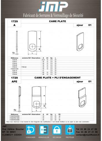 Cames 1729 - Plan Technique 1