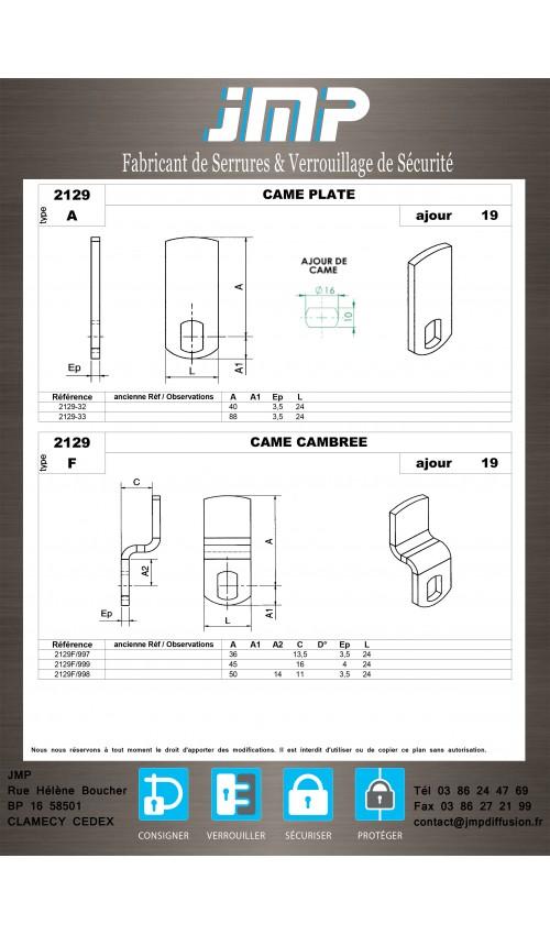 Cames 2129 - Plan Technique 1