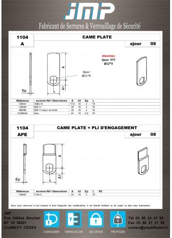 Cames 1104 - Plan Technique 1