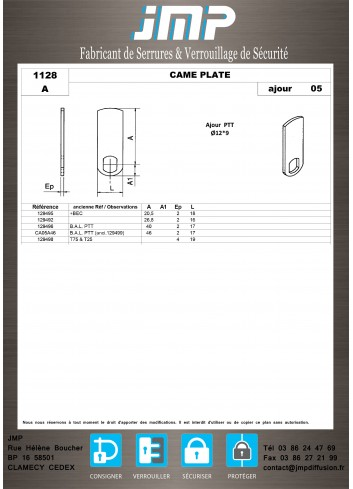 Cames 1128 - Plan Technique 1
