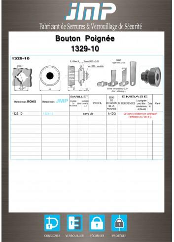 Bouton poignée agencement 1329-10 - Plan Technique