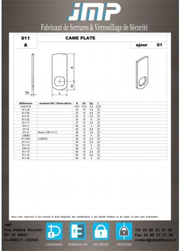 Cames 911 - Plan Technique 1
