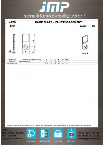 Cames 4929 - Plan Technique 2