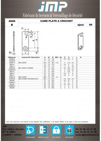 Cames 4929 - Plan Technique 3
