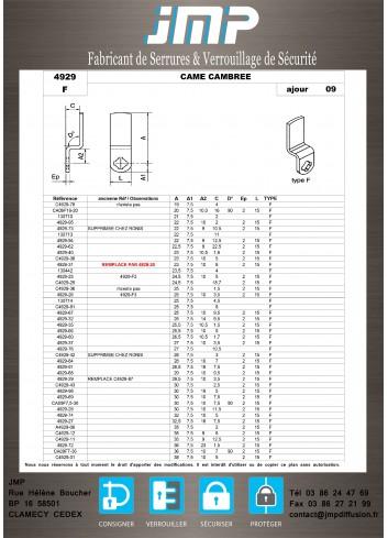 Cames 4929 - Plan Technique 5