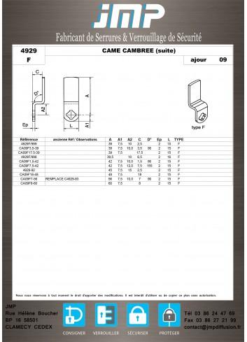 Cames 4929 - Plan Technique 6