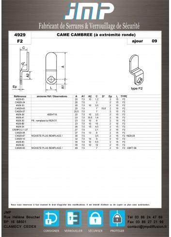 Cames 4929 - Plan Technique 7