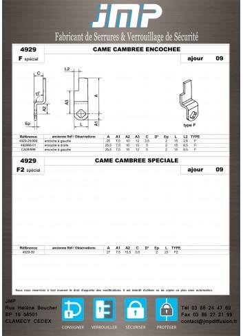 Cames 4929 - Plan Technique 8