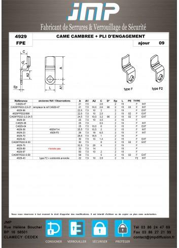 Cames 4929 - Plan Technique 9