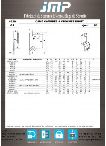 Cames 4929 - Plan Technique 10