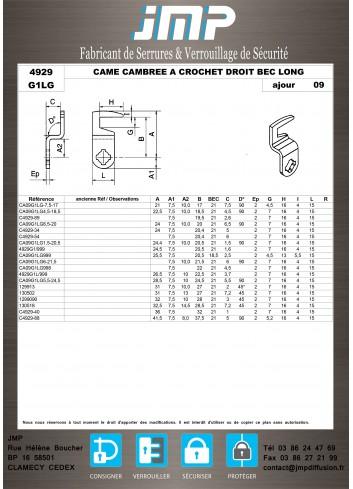 Cames 4929 - Plan Technique 12