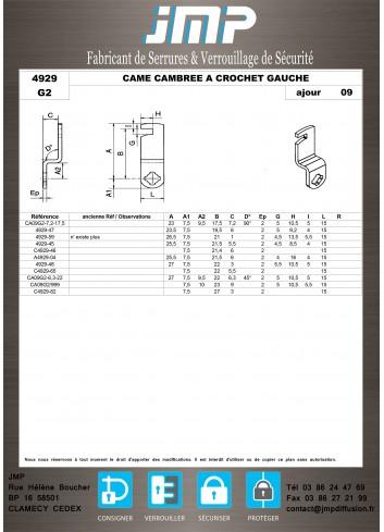 Cames 4929 - Plan Technique 13