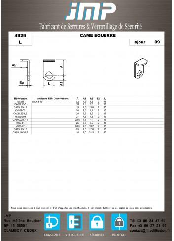 Cames 4929 - Plan Technique 15
