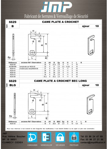 Cames 6629 - Plan Technique 2