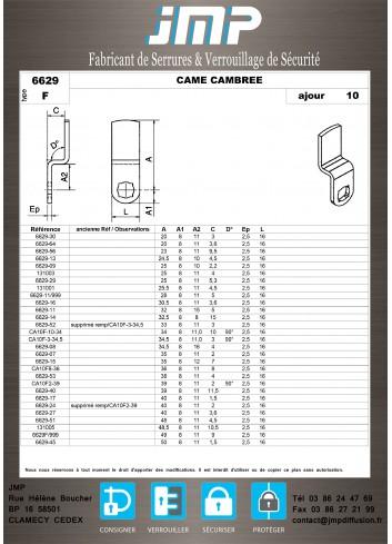 Cames 6629 - Plan Technique 3