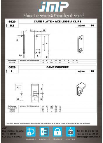 Cames 6629 - Plan Technique 6