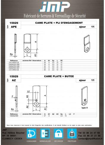 Cames 15929 - Plan Technique 2