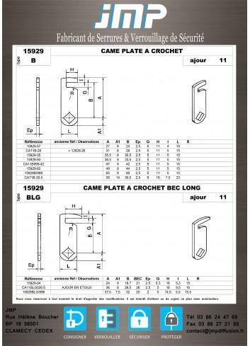 Cames 15929 - Plan Technique 3