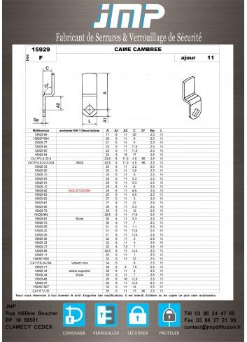 Cames 15929 - Plan Technique 4