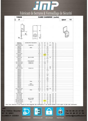 Cames 15929 - Plan Technique 5