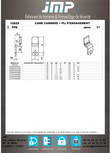 Cames 15929 - Plan Technique 6