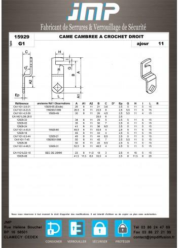 Cames 15929 - Plan Technique 7