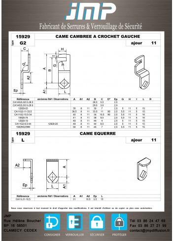 Cames 15929 - Plan Technique 8