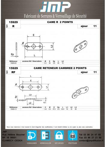 Cames 15929 - Plan Technique 9