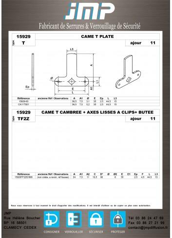 Cames 15929 - Plan Technique 10