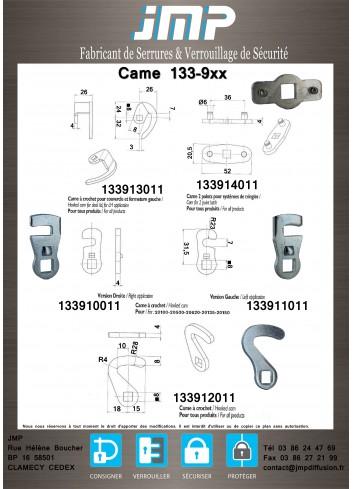 Came 133-9xx - gamme électrique - Plan Technique