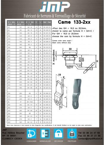 Came 133-2xx - gamme électrique - Plan Technique 1
