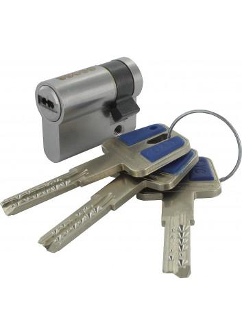 1/2 Cylindre serrure 1268-CYC à clé sécurisée breveté carte de propriété