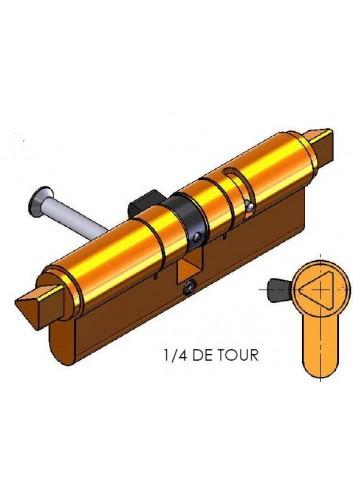 Cylindre Européen CP46X46T10L-01 triangle pompier de 11