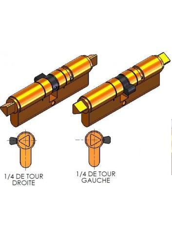 Cylindre Européen CP46X46T10L-02 triangle pompier de 11