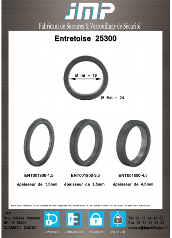 Entretoise 25300 - Plan Technique