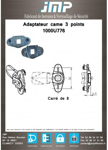 Adaptateur came 3 points 1000U776 - Plan Technique