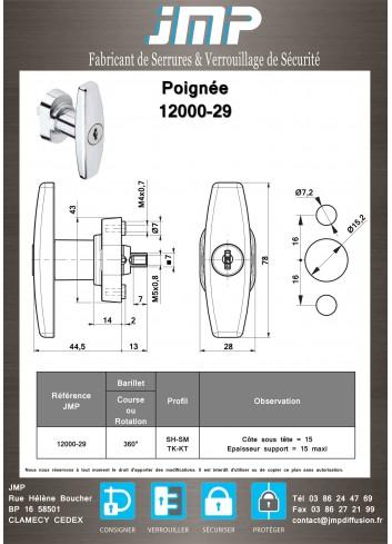 Poignée en T 12000-29 - Plan Technique