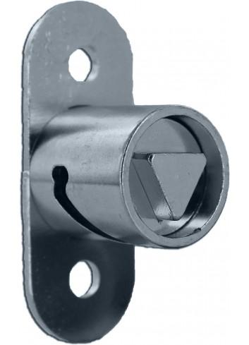 Serrure à poussoir PO981-TP11-INOX triangle de 11 pour corbeilles - 1