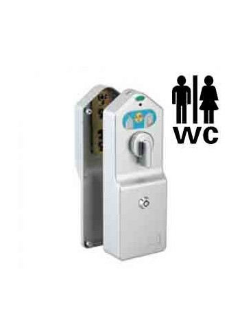 Serrure electronique 07480 Access avec paiement pour toilettes publiques porte palière 9 à 13 mm - 1